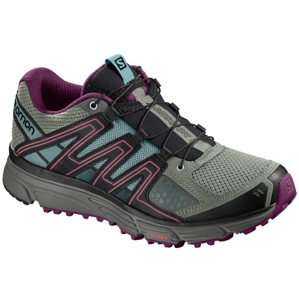 SALOMON Women's X-Mission 3 Trail Running Sneaker - SHADOW/DK PURPLE