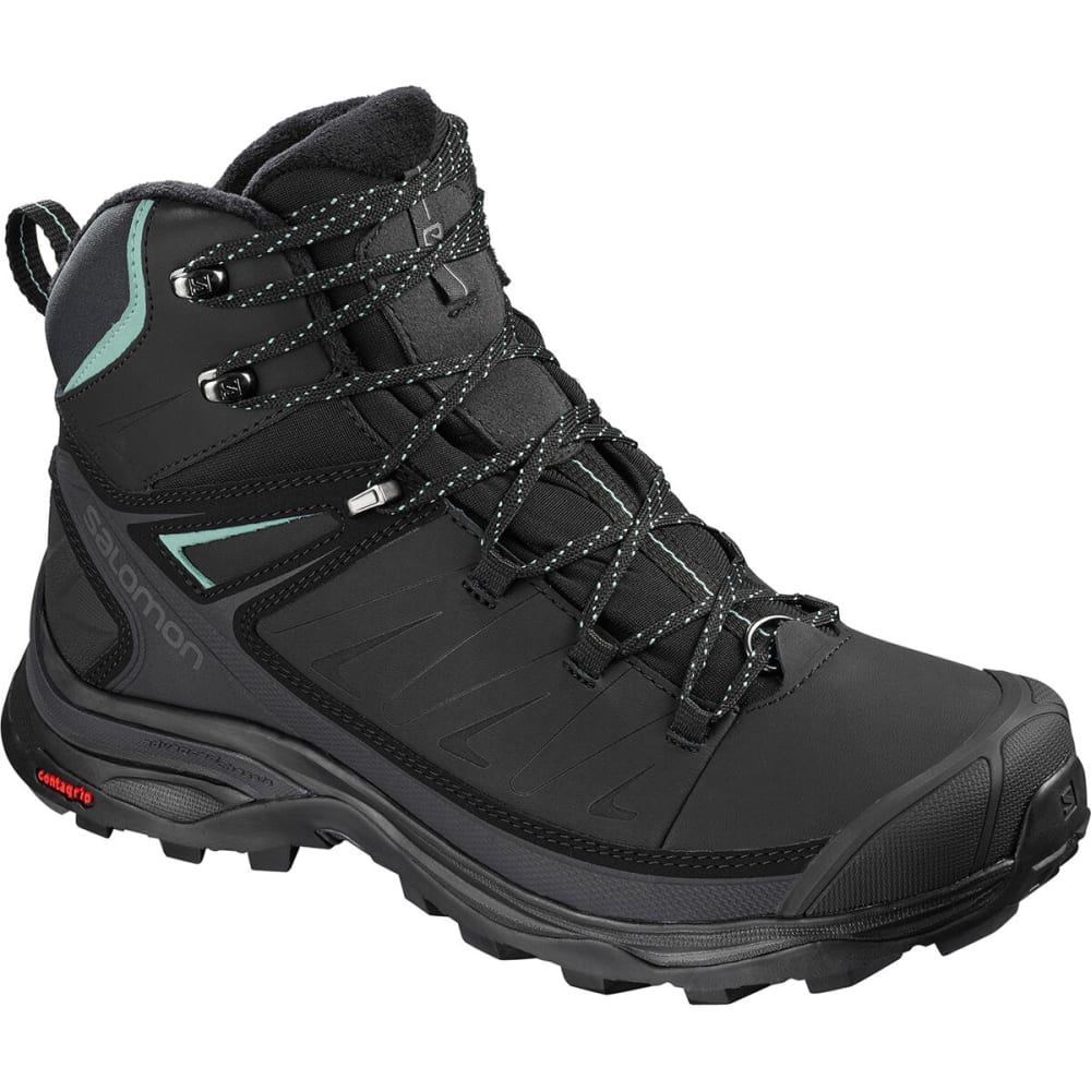 SALOMON Women's X Ultra Mid Winter CS Waterproof Boots - BLACK