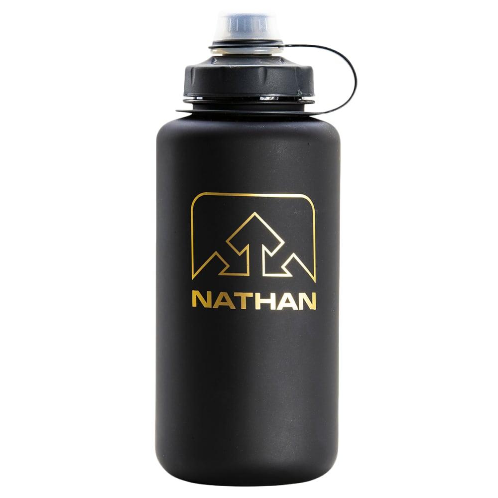 NATHAN BigShot Water Bottle, 1L - BLACK/GOLD