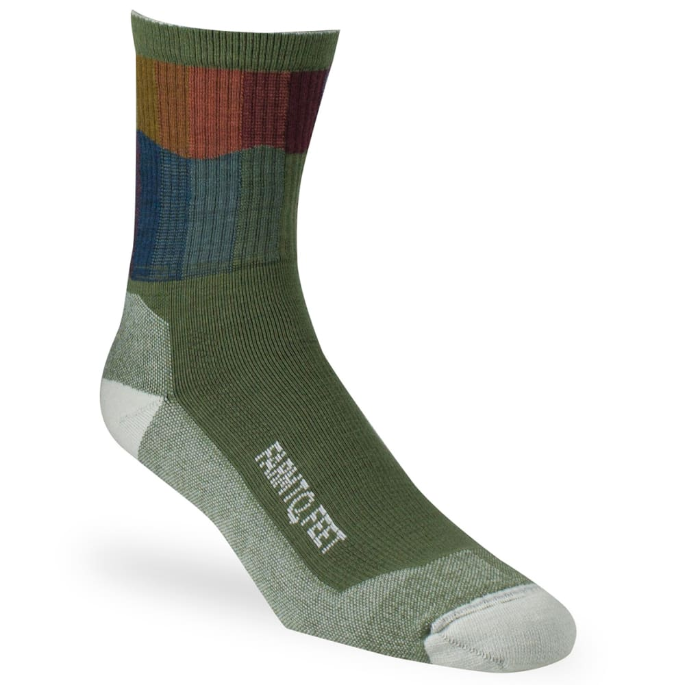 FARM TO FEET Men's Bozeman 3/4 Crew Sock - WINTER MOSS-315