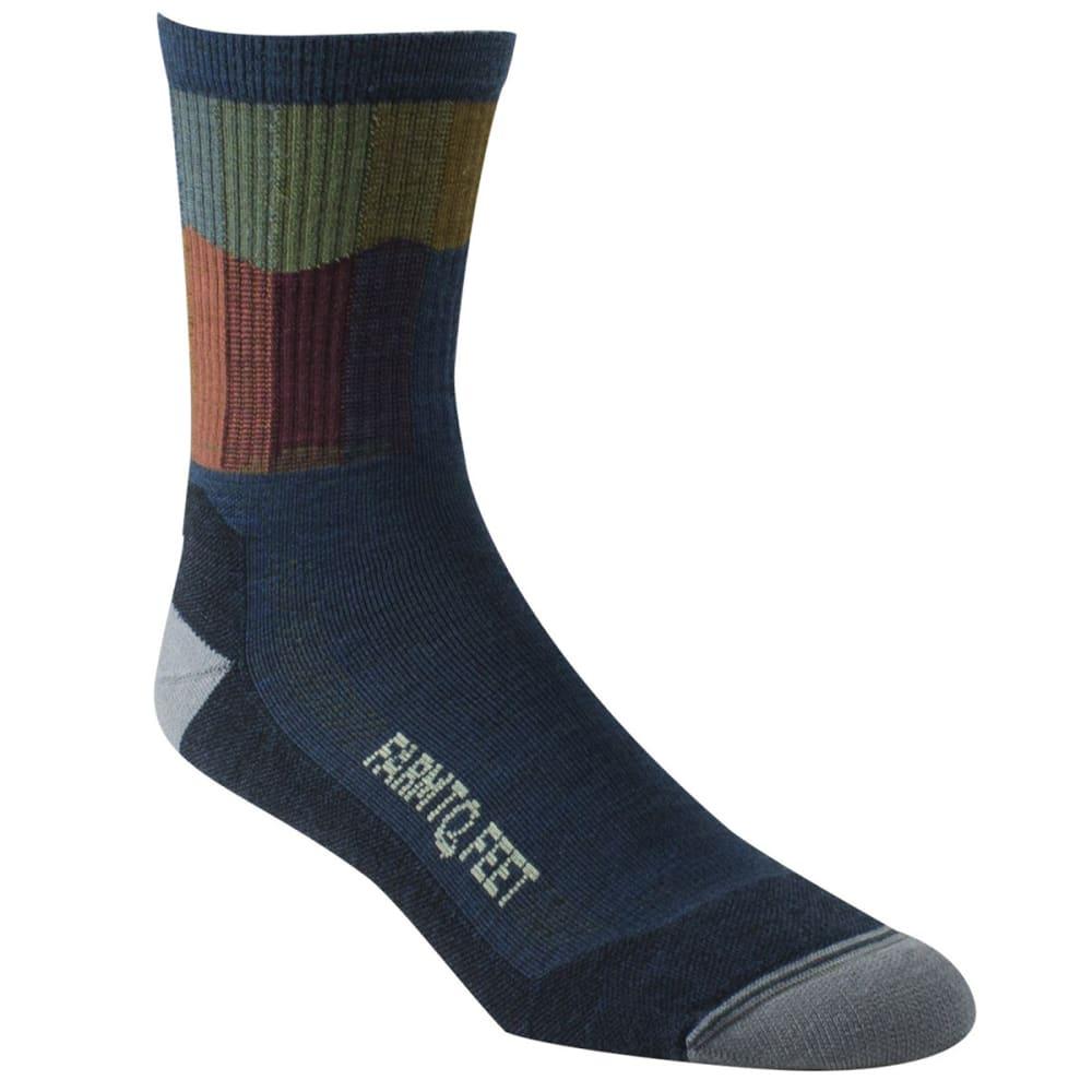 FARM TO FEET Men's Bozeman 3/4 Crew Sock - DENIM BLUE-420