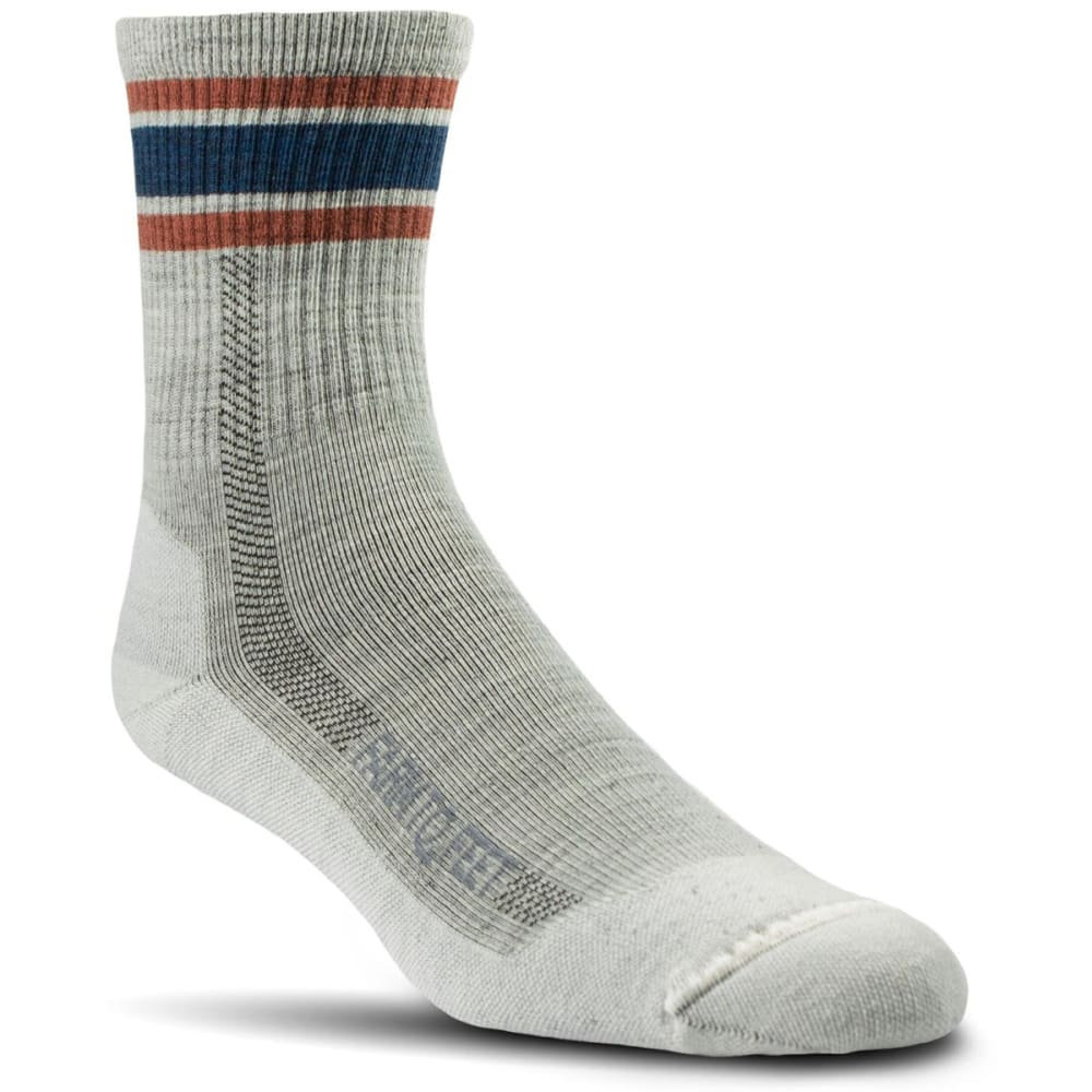 FARM TO FEET Women's North Conway 3/4 Crew Lightweight Technical Trail Socks - NATURAL-101