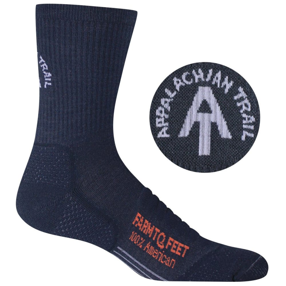 FARM TO FEET Men's Harpers Ferry Technical 3/4 Crew Sock - TOTAL ECLIPSE-401