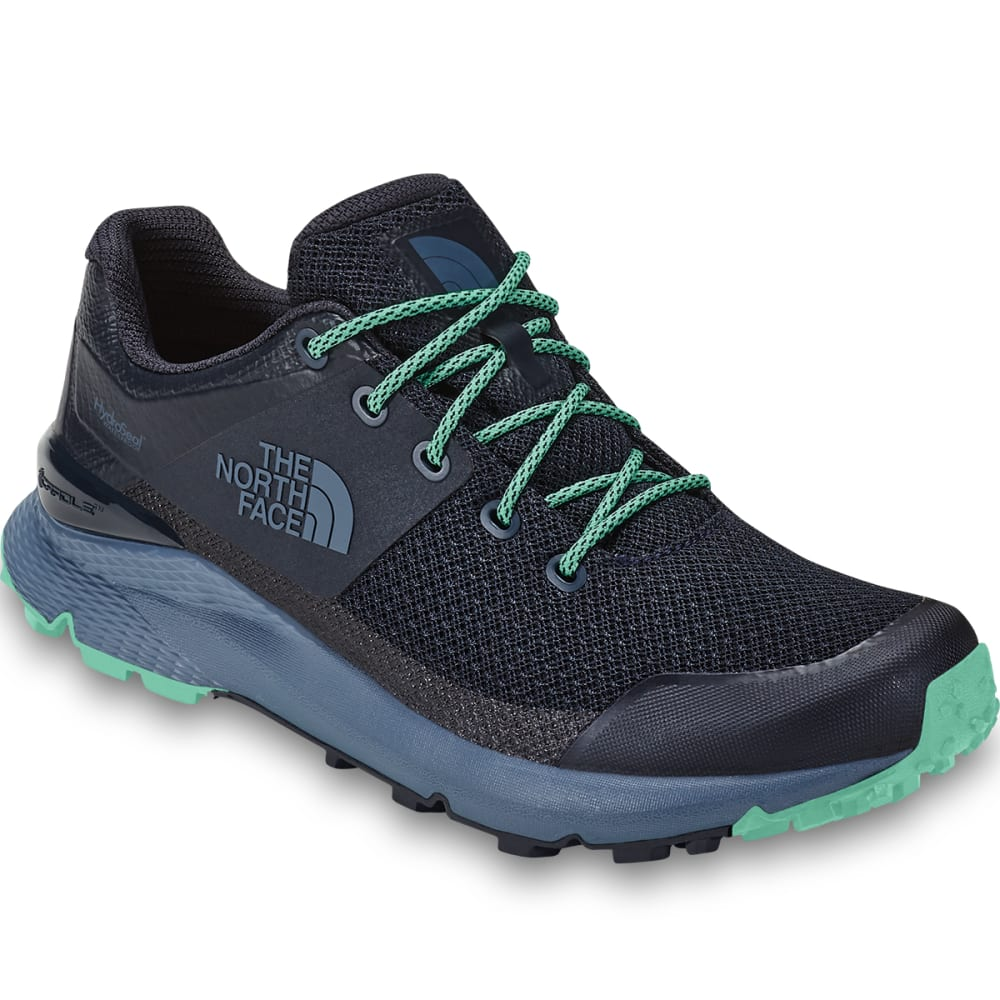 THE NORTH FACE Women's Vals Waterproof Hiking Shoes - URBN NVY/ICE GRN-CC2