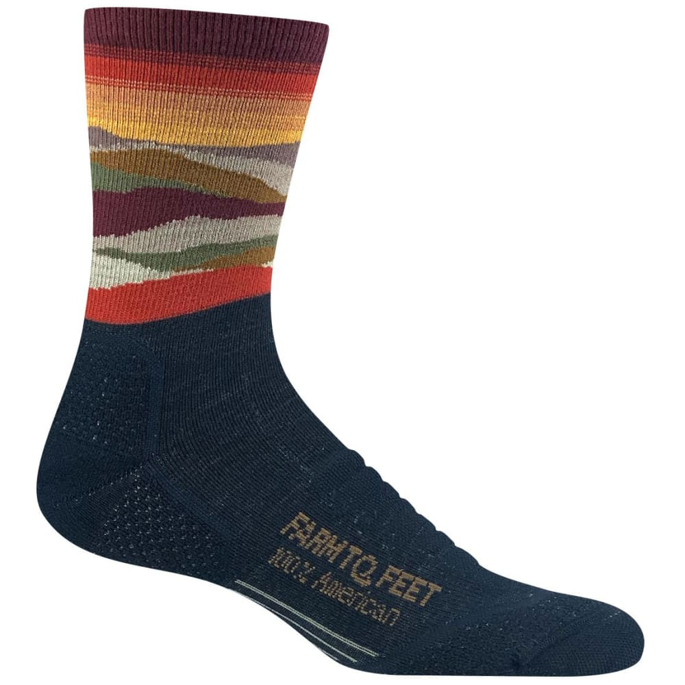 FARM TO FEET Women's Max Patch Technical 3/4 Crew Sock - TOTAL ECLIPSE-401