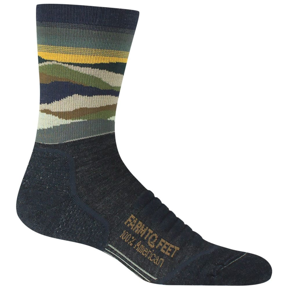 FARM TO FEET Men's Max Patch Lightweight Technical Crew Sock - CHARCOAL-015