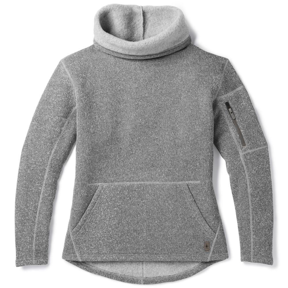 SMARTWOOL Women's Hudson Trail Pullover Fleece Sweater - 039 LIGHT GREY