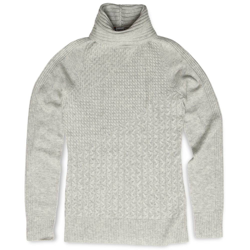 SMARTWOOL Women's Dacono Ski Sweater - 047 ASH HEATHER