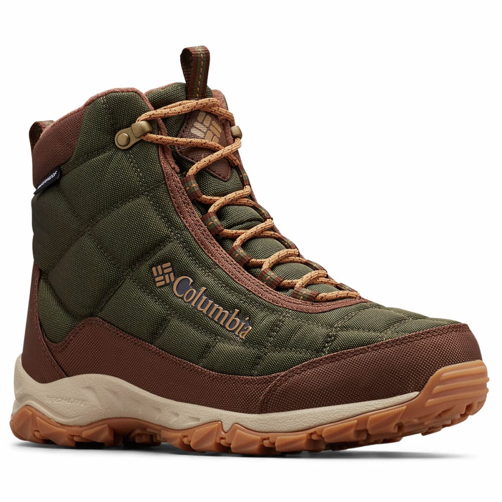 COLUMBIA Men's Insulated WP Firecamp Hiking Boots - PEATMOSS 213