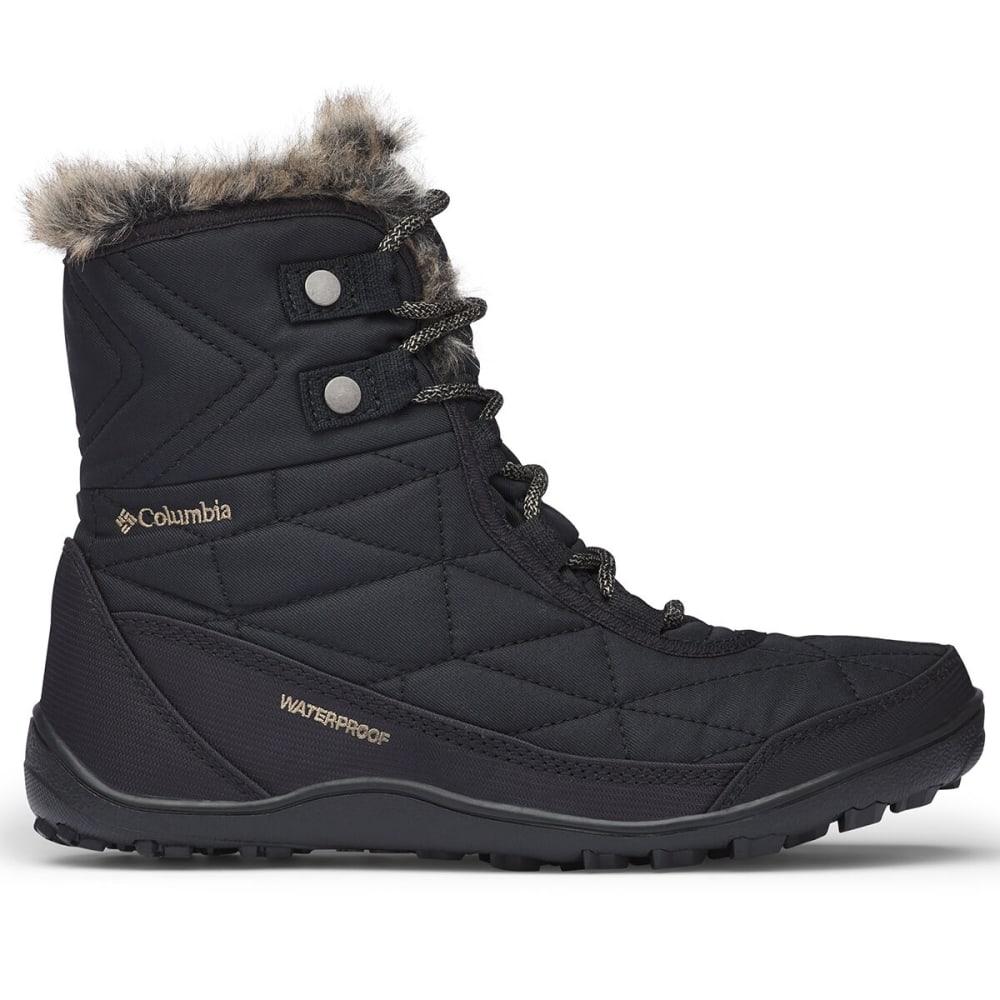 COLUMBIA Women's Minx Shorty 3 Waterproof Boot - BLACK 010