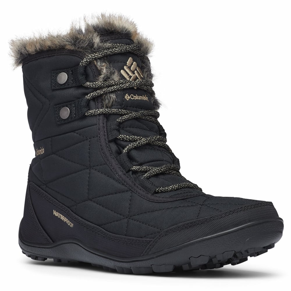 COLUMBIA Women's Minx Shorty 3 Waterproof Boot - BLACK 010