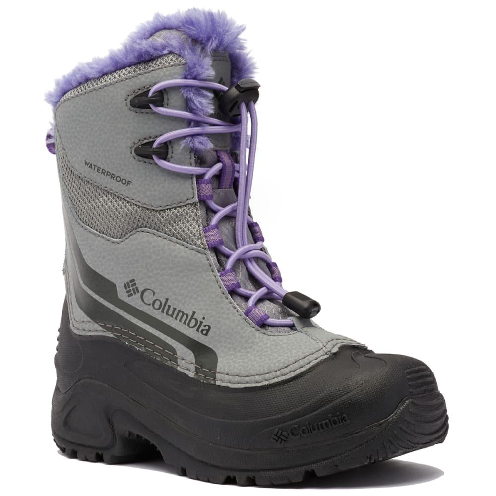 COLUMBIA Girls' Bugaboot Plus VI Omni-Heat Boot - MONUMENT/PUR-036