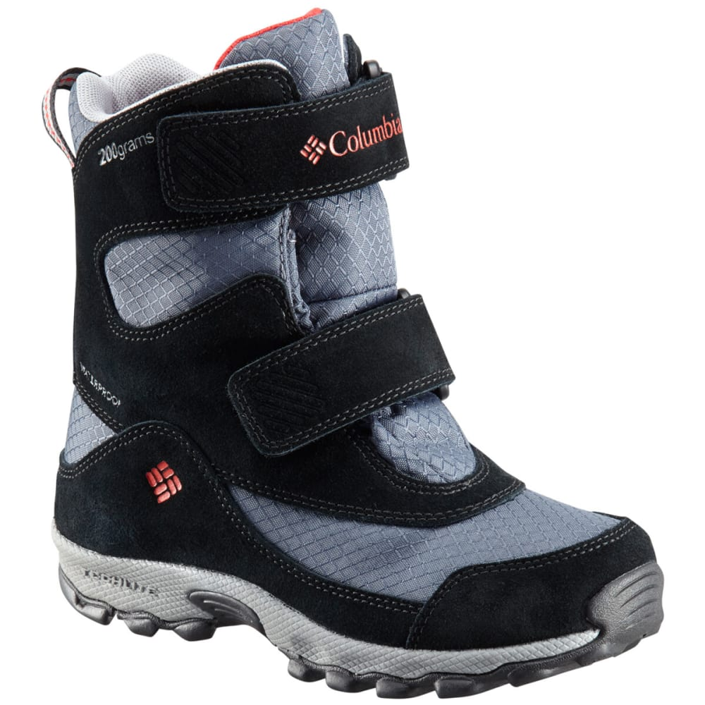 COLUMBIA Boys' Parker's Peak Boot, Wide Width - GRAPHITE/RED-053