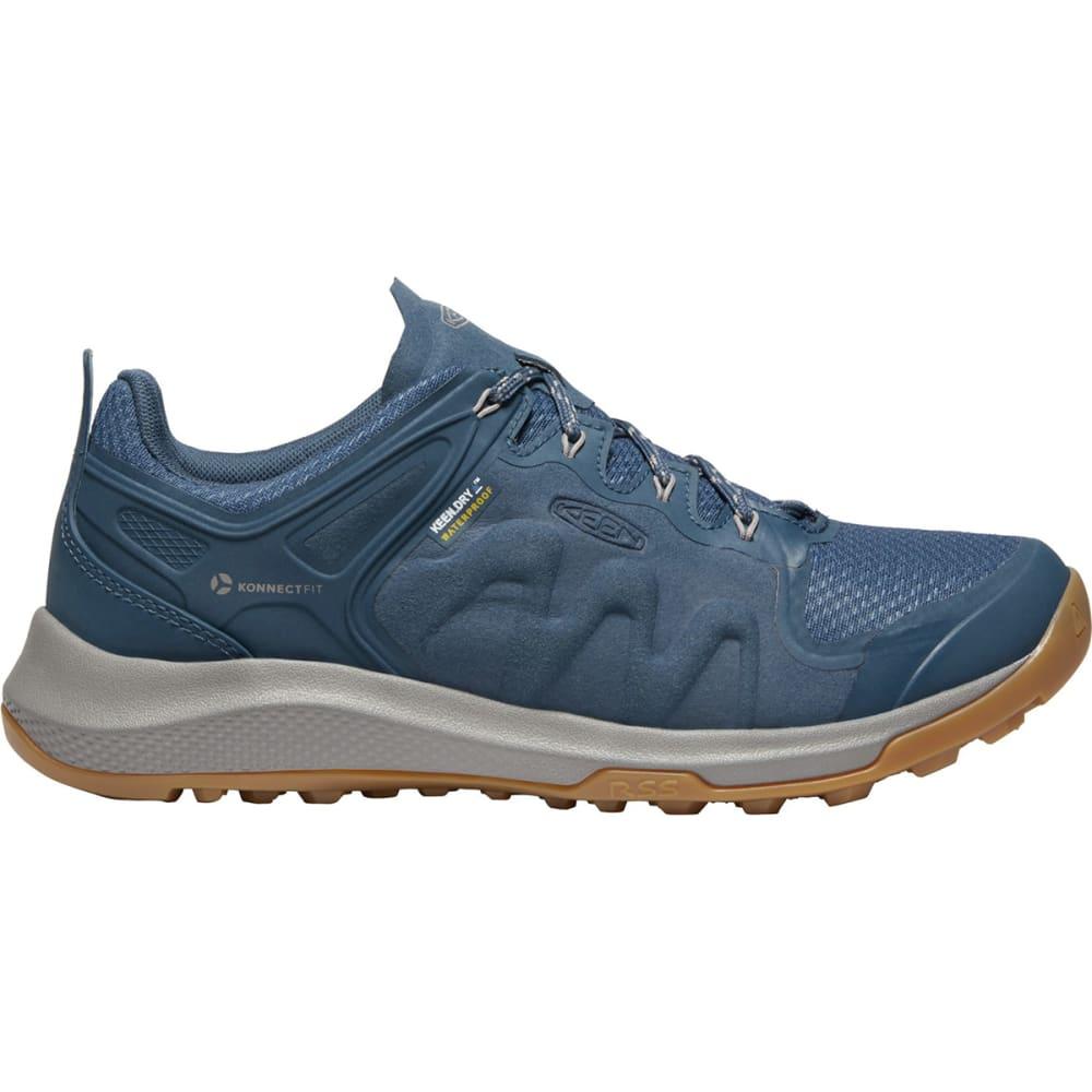 KEEN Women's Explore Low Waterproof Mountain Sneakers - MAJOLICA BLUE