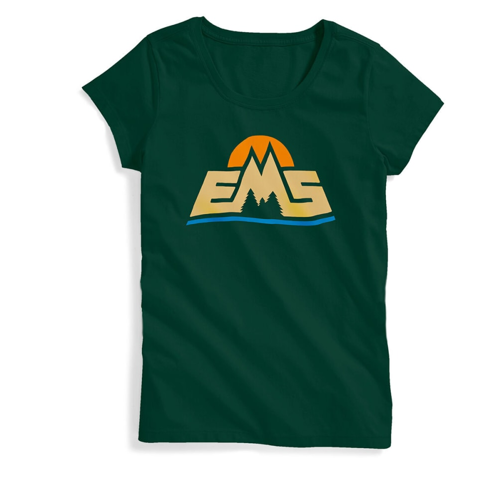 EMS Women's New Logo Short-Sleeve Graphic Tee - GREEN