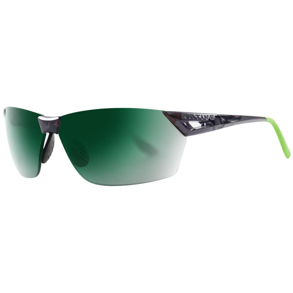NATIVE EYEWEAR Men's Vigor AF Reflex Sunglasses - DRK CRYSTL GRY/GREEN