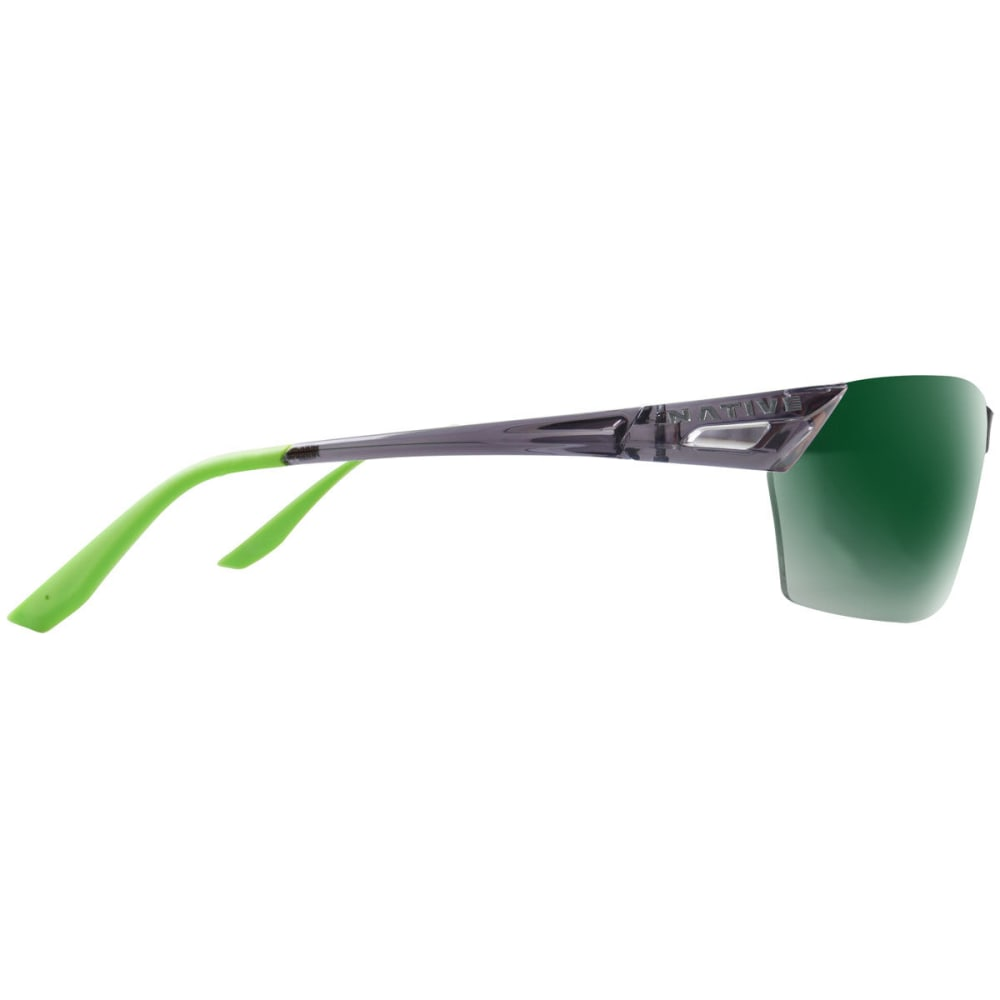 NATIVE EYEWEAR Men's Vigor AF Reflex Sunglasses - DRK CRYSTL GRY/GREEN