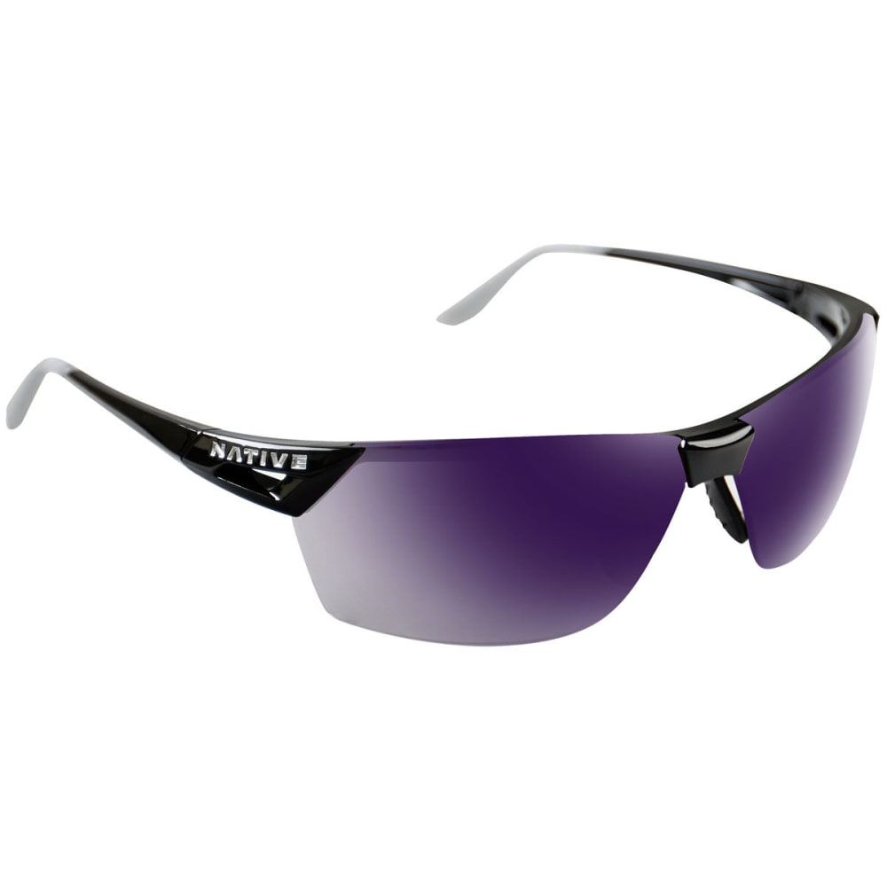 NATIVE EYEWEAR Men's Vigor AF Reflex Sunglasses - GLOSS BLACK/VIOLET