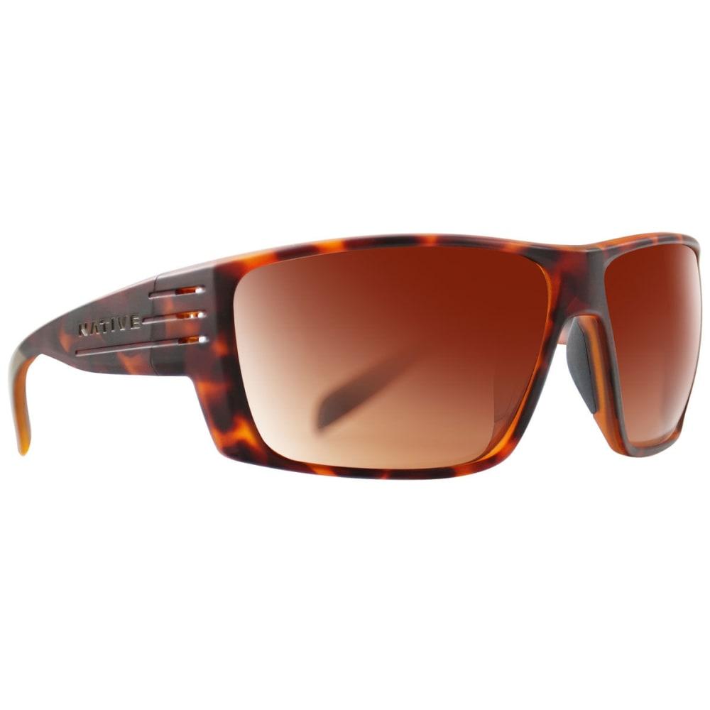 NATIVE EYEWEAR Griz Polarized Sunglasses - DARK TORT/BROWN