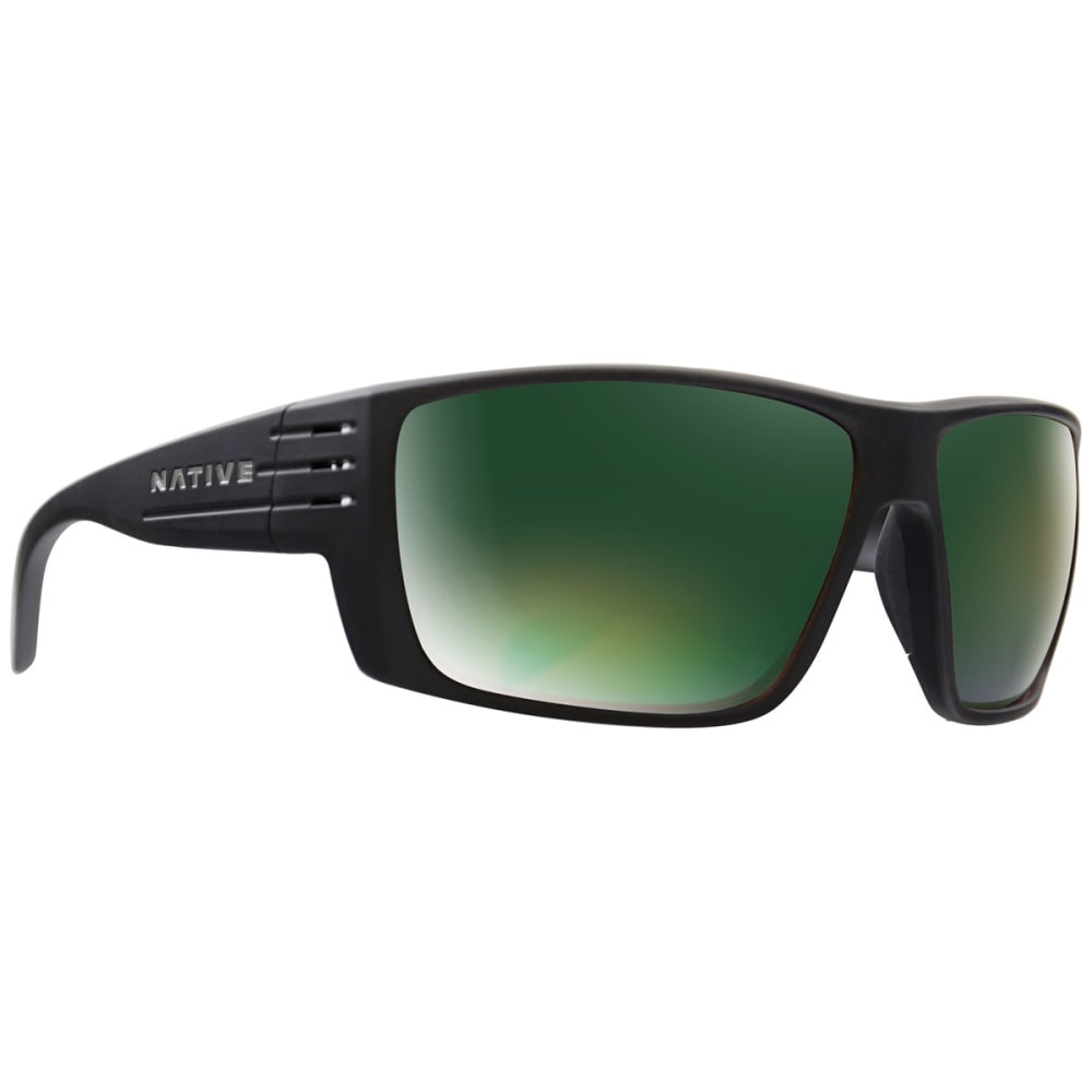 NATIVE EYEWEAR Griz Polarized Sunglasses - MATT BLACK/GREEN REF
