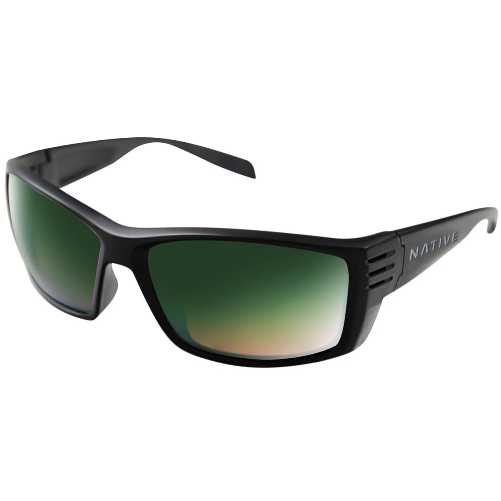 NATIVE EYEWEAR Men's Raghorn Reflex Sunglasses - MATTE BLACK/GREEN