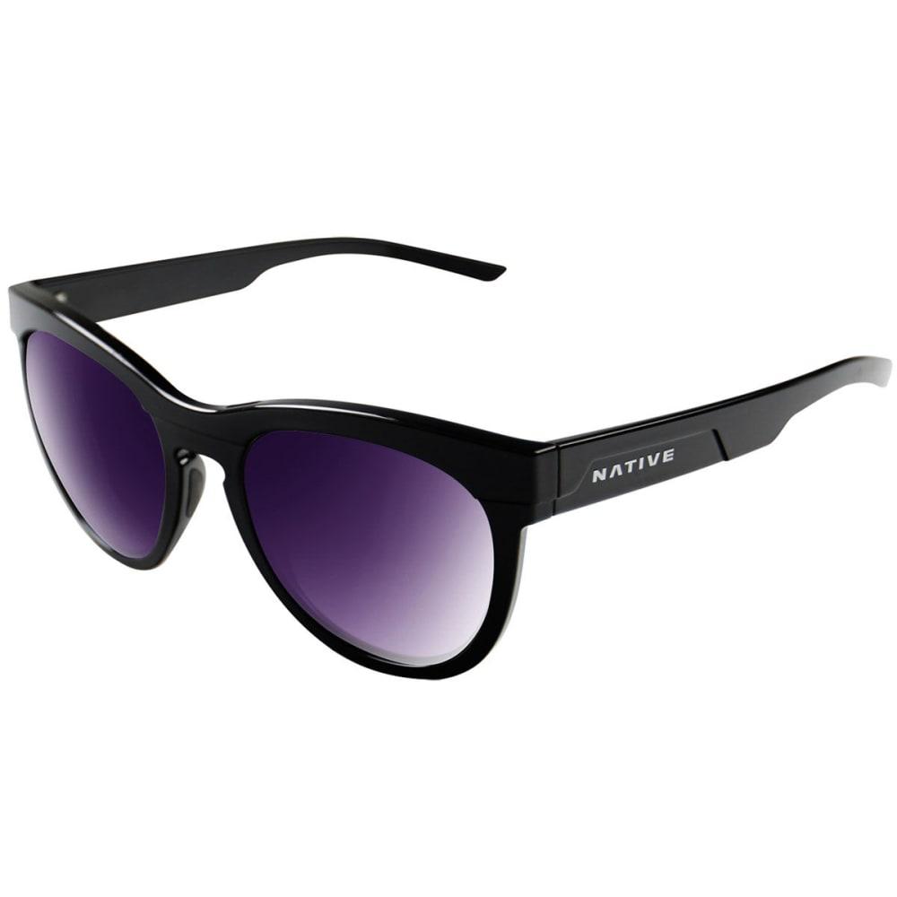 NATIVE EYEWEAR Women's La Reina Polarized Sunglasses - GLOSS BLACK/VIOLET