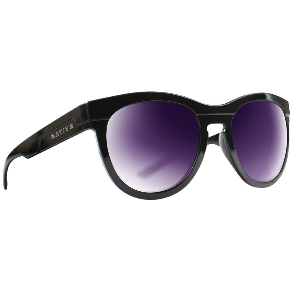 NATIVE EYEWEAR Women's La Reina Polarized Sunglasses - GLOSS BLACK/VIOLET