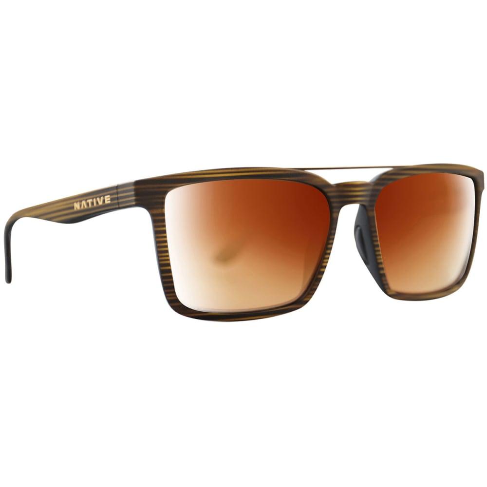 NATIVE EYEWEAR Four Corners Polarized Sunglasses - WOOD BROWN
