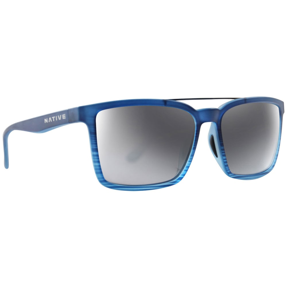 NATIVE EYEWEAR Four Corners Polarized Sunglasses - BLUE WATER/SILVER