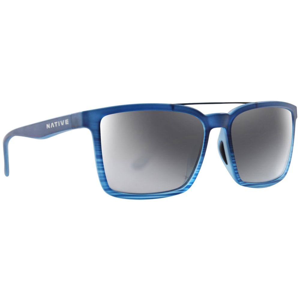 NATIVE EYEWEAR Four Corners Polarized Sunglasses - BLUE WATER/SILVER