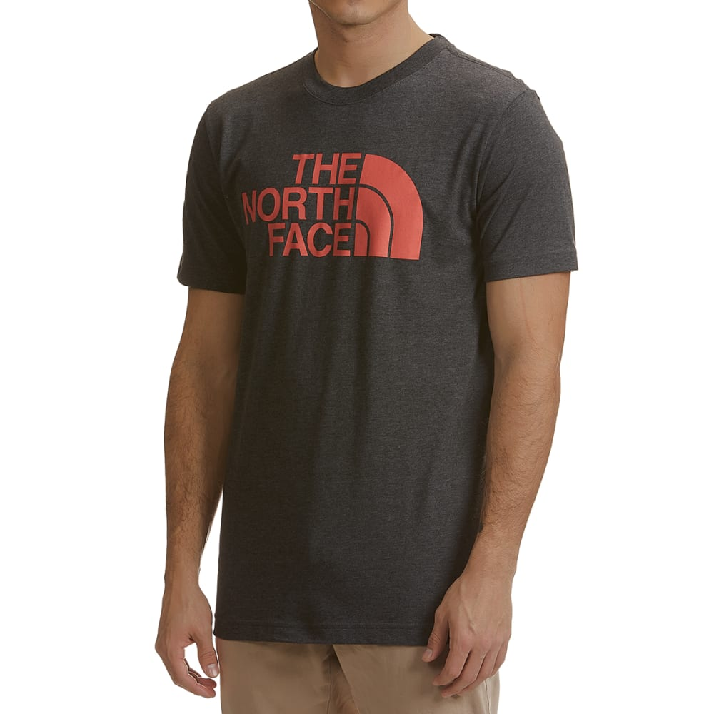 THE NORTH FACE Men's Half Dome Short-Sleeve Graphic Tee - RUV- DK GRY HTHR