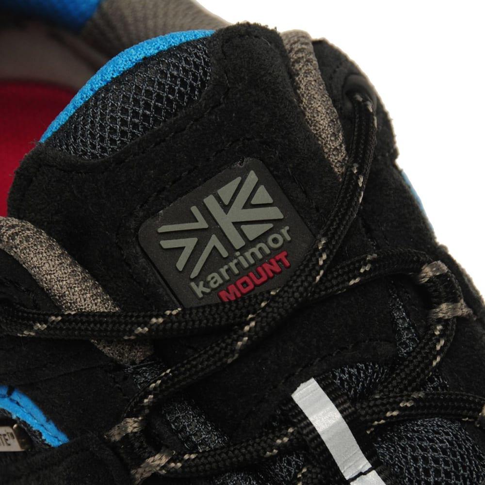 KARRIMOR Kids' Mount Low Walking Shoes - BLACK/BLUE