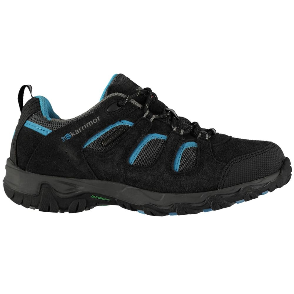 KARRIMOR Kids' Mount Low Walking Shoes - BLACK/BLUE