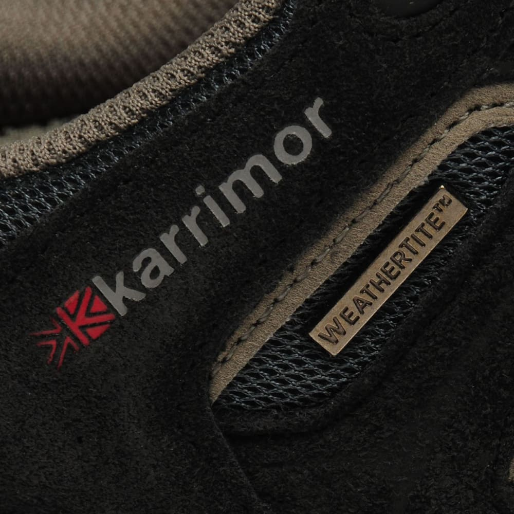 KARRIMOR Kids' Mount Low Walking Shoes - BLACK/RED