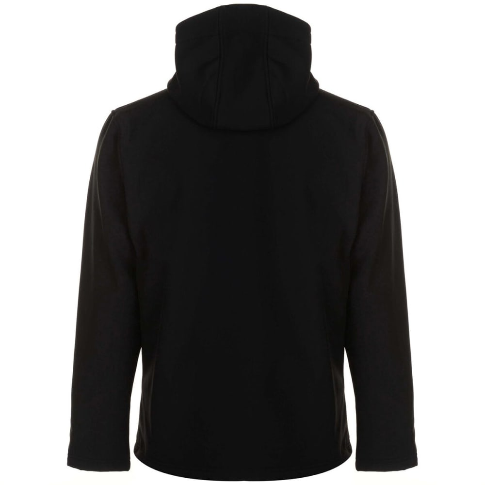 GELERT Men's Softshell Hooded Jacket - BLACK