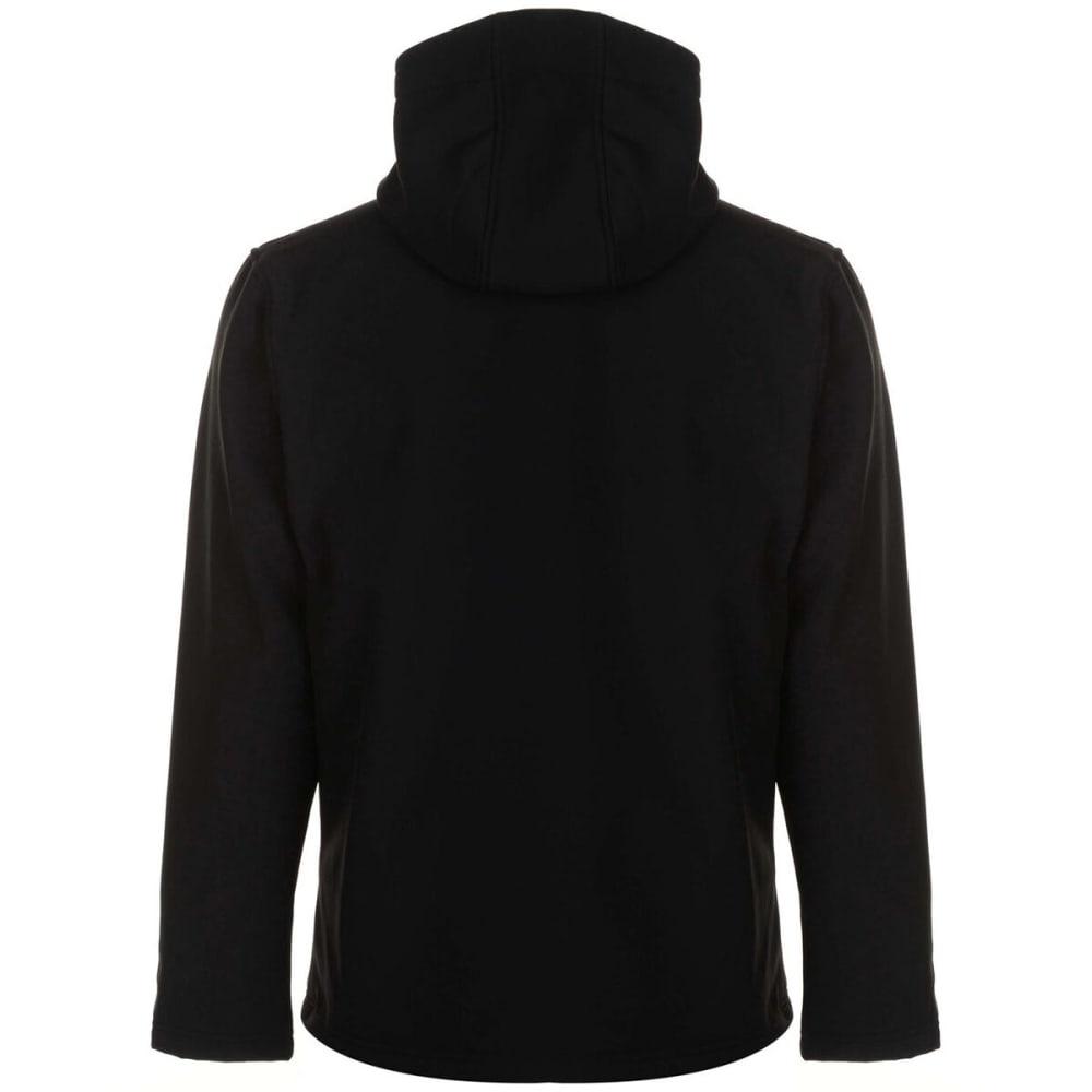 GELERT Men's Softshell Hooded Jacket - BLACK