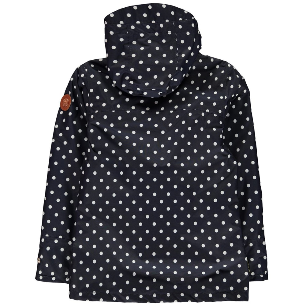 GELERT Kids' Coast Waterproof Jacket - NAVY POLKA DOT