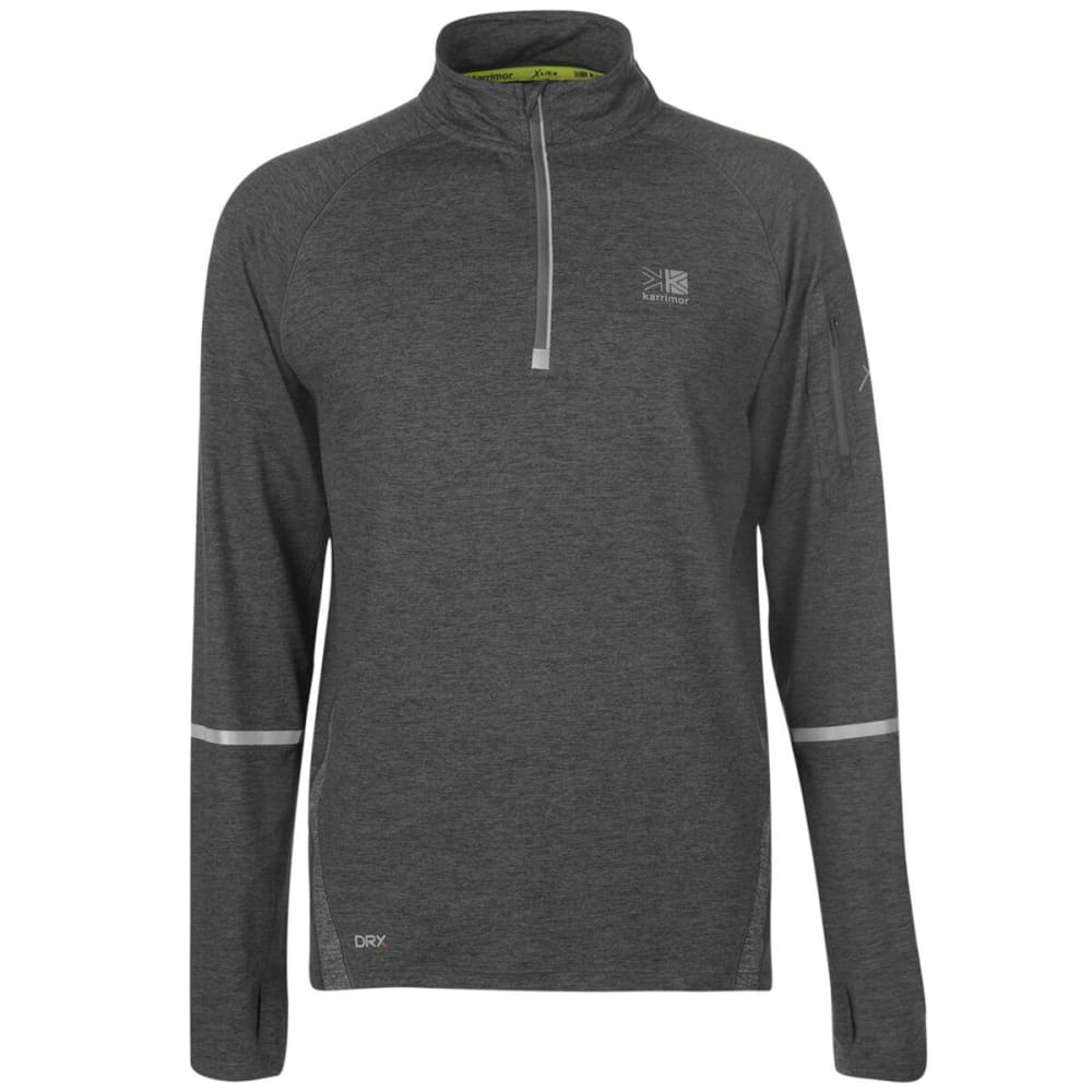 KARRIMOR Men's X Lite Long-Sleeve Running Top - Dark Grey Marl