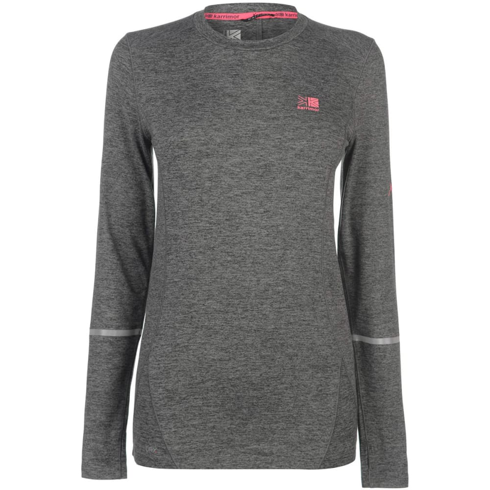 KARRIMOR Women's XLite MI Long-Sleeve Tee - Light Grey Marl
