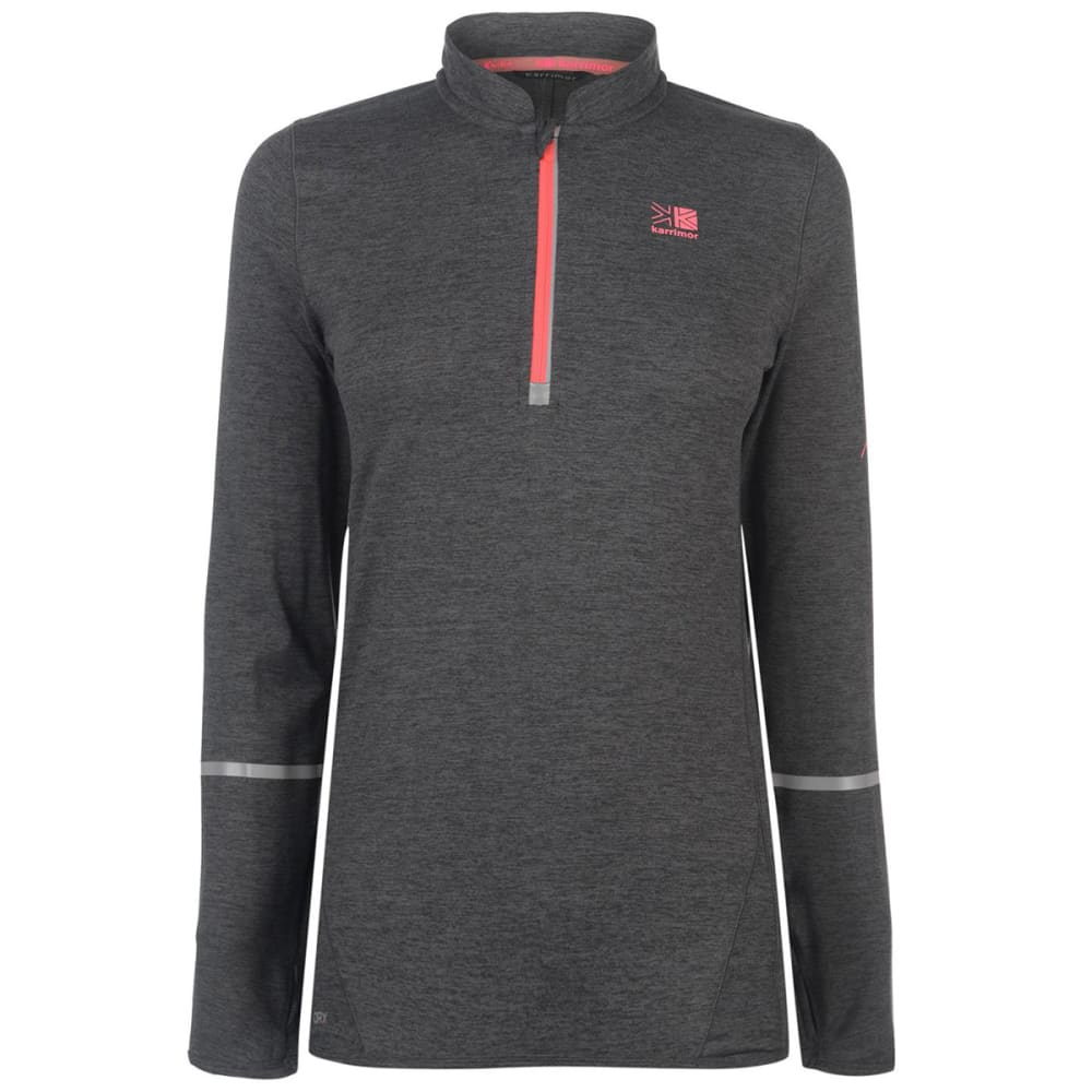 KARRIMOR Women's XLite Long-Sleeve Zip Top - Dark Grey Marl