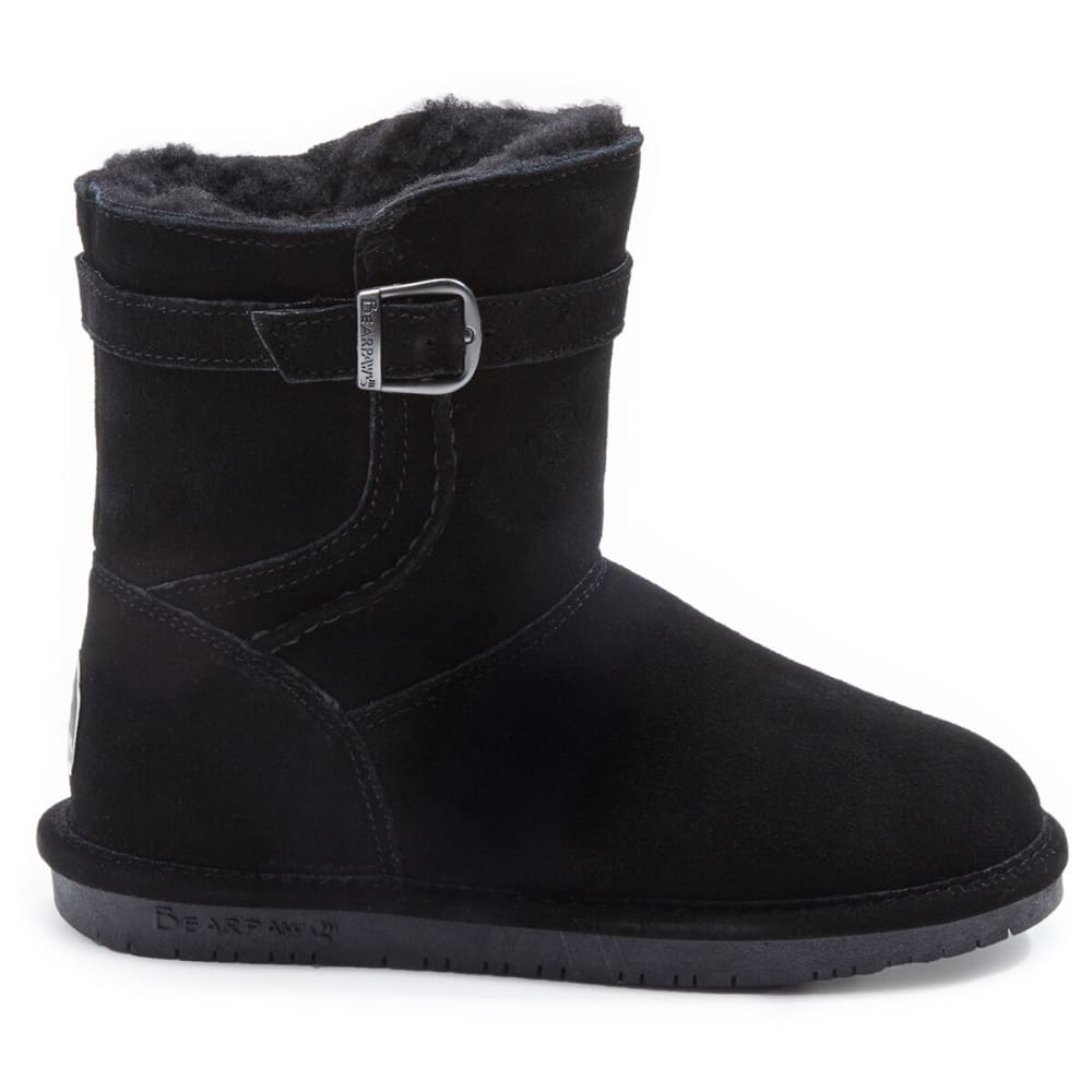 BEARPAW Women's Catherine Belted Boots - BLACK
