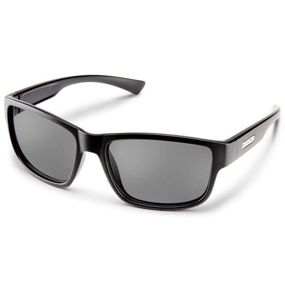 SUNCLOUD Optics Suspect Sunglasses - BLACK/POLARIZED GREY