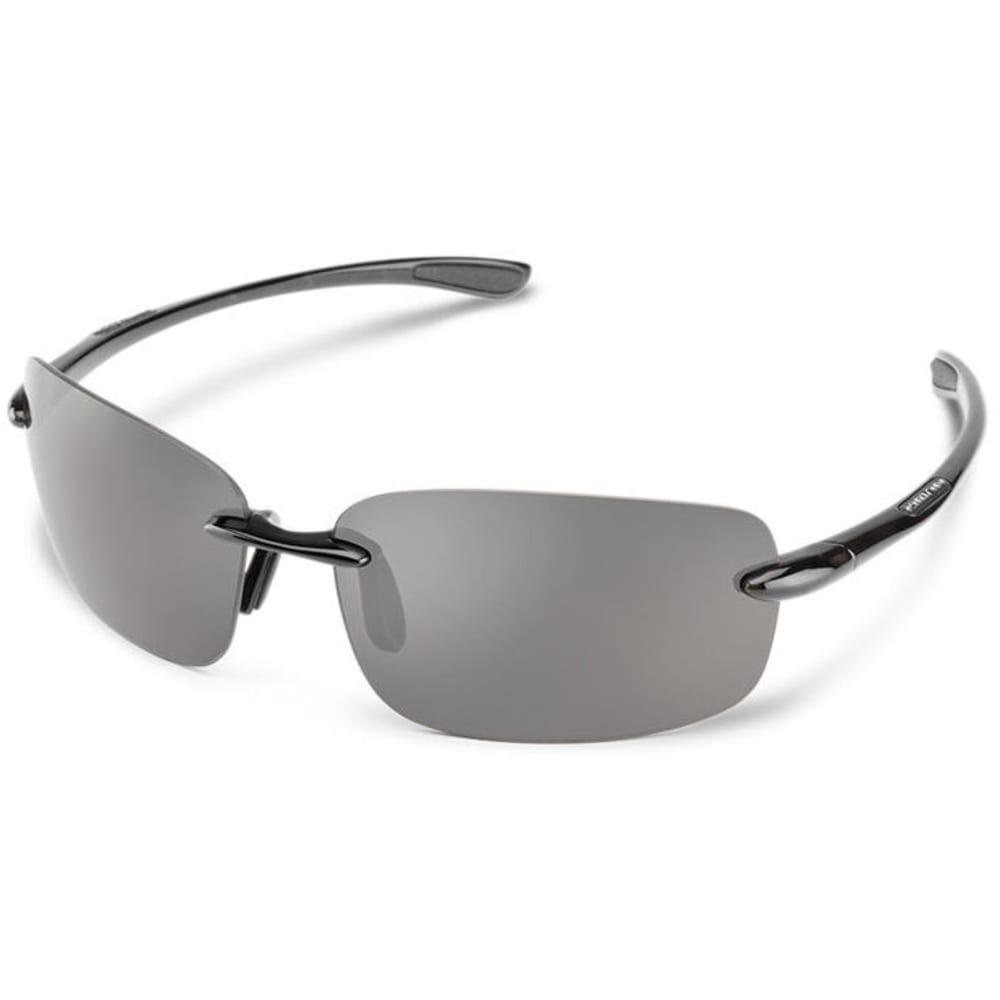 SUNCLOUD Topline Optics Suspect Sunglasses - BLACK/POLARIZED GREY