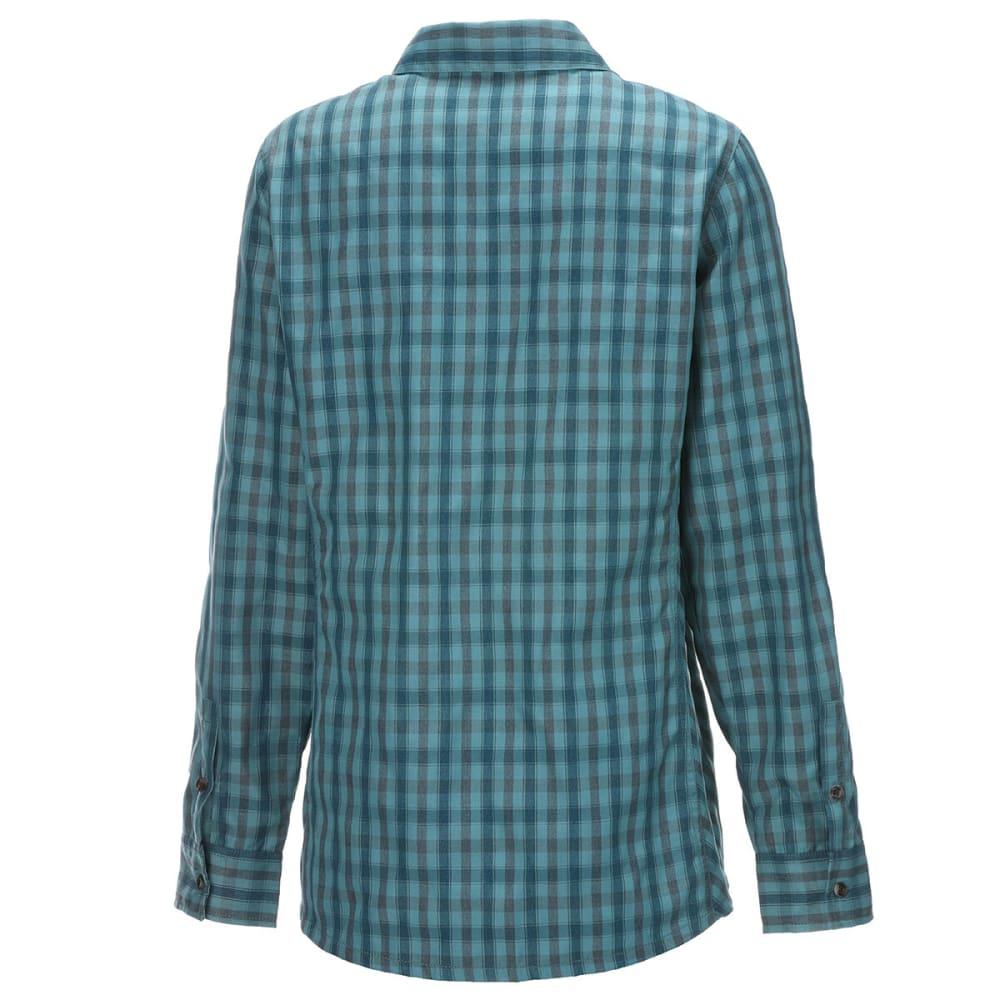 EMS Women's Quinnipiac Tech Flannel - MAJOLICA BLUE PLAID