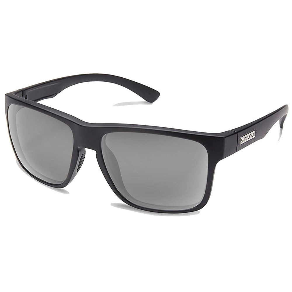 SUNCLOUD Rambler Polarized Sunglasses - MATTE BLACK/GREY