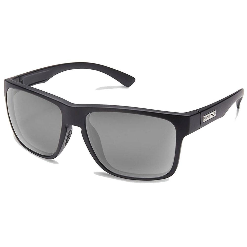 SUNCLOUD Rambler Polarized Sunglasses - MATTE BLACK/GREY