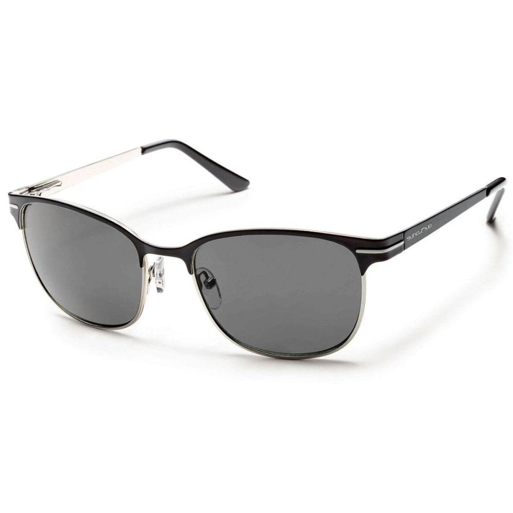 SUNCLOUD Causeway Polarized Sunglasses - BLACK/POLARIZED GRAY