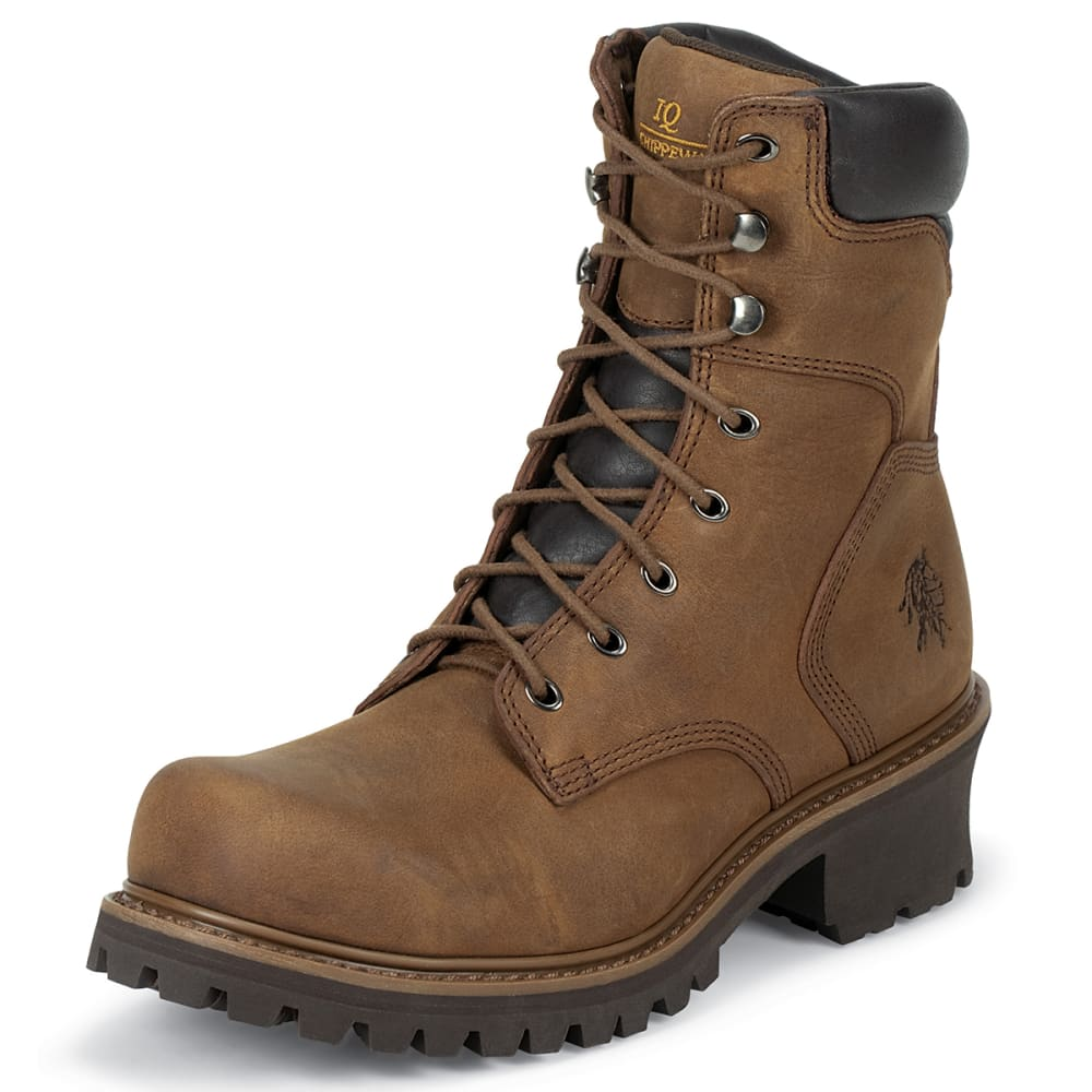 "CHIPPEWA Men's Hador 8"" Logger Boot - BROWN"