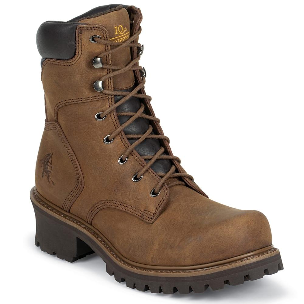 "CHIPPEWA Men's Hador 8"" Logger Boot - BROWN"
