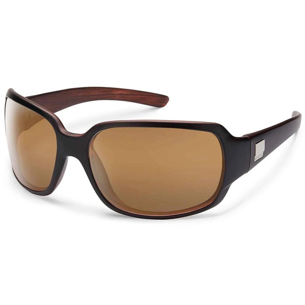 SUNCLOUD Women's Cookie Polarized Sunglasses - MT BLACK/SIENNA MIRR